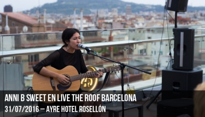 Anni B Sweet en Live the Roof Barcelona