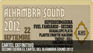 Second cierra el cartel del Alhambra Sound 2012
