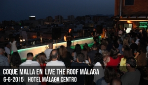 Coque Malla en Live The Roof Málaga
